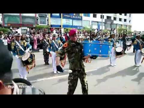 Kirab Kota Drum Band AAL Gita Jala Taruna di Batam