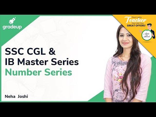 SSC CGL & IB Master Series || Neha Joshi Mam || Reasoning || Number Series || Class 3