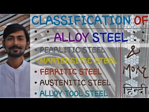 [HINDI]ALLOY STEEL~CLASSIFICATION OF ALLOY STEEL~PEARLITIC, MARTENSITIC, ALLOY TOOL STEEL & MUCHMORE
