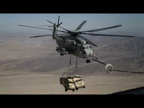 U.S. Marine Corps practices heavy lifts with CH-53 Super Stallion helicopters