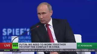 Putin: We don't protect Assad, we protect Syria from becoming Libya
