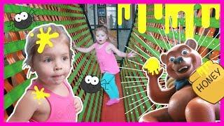 GIANT BEAR SPILLS HONEY ON GIRLS HEAD | INDOOR PLAYGROUND FOR KIDS | Pretend Play
