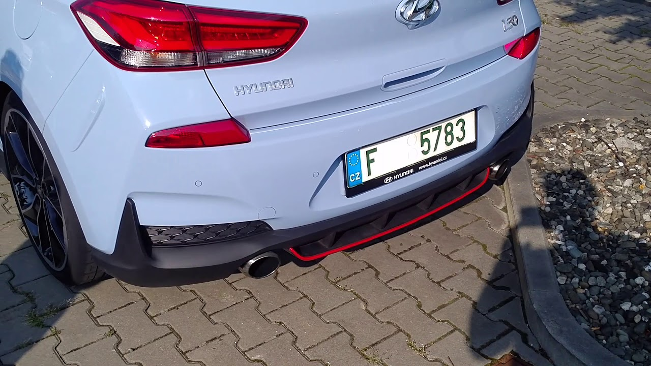 hyundai i30n first time on street exhaust sound in n mode youtube