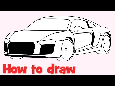 How to draw a car Audi R8 2016