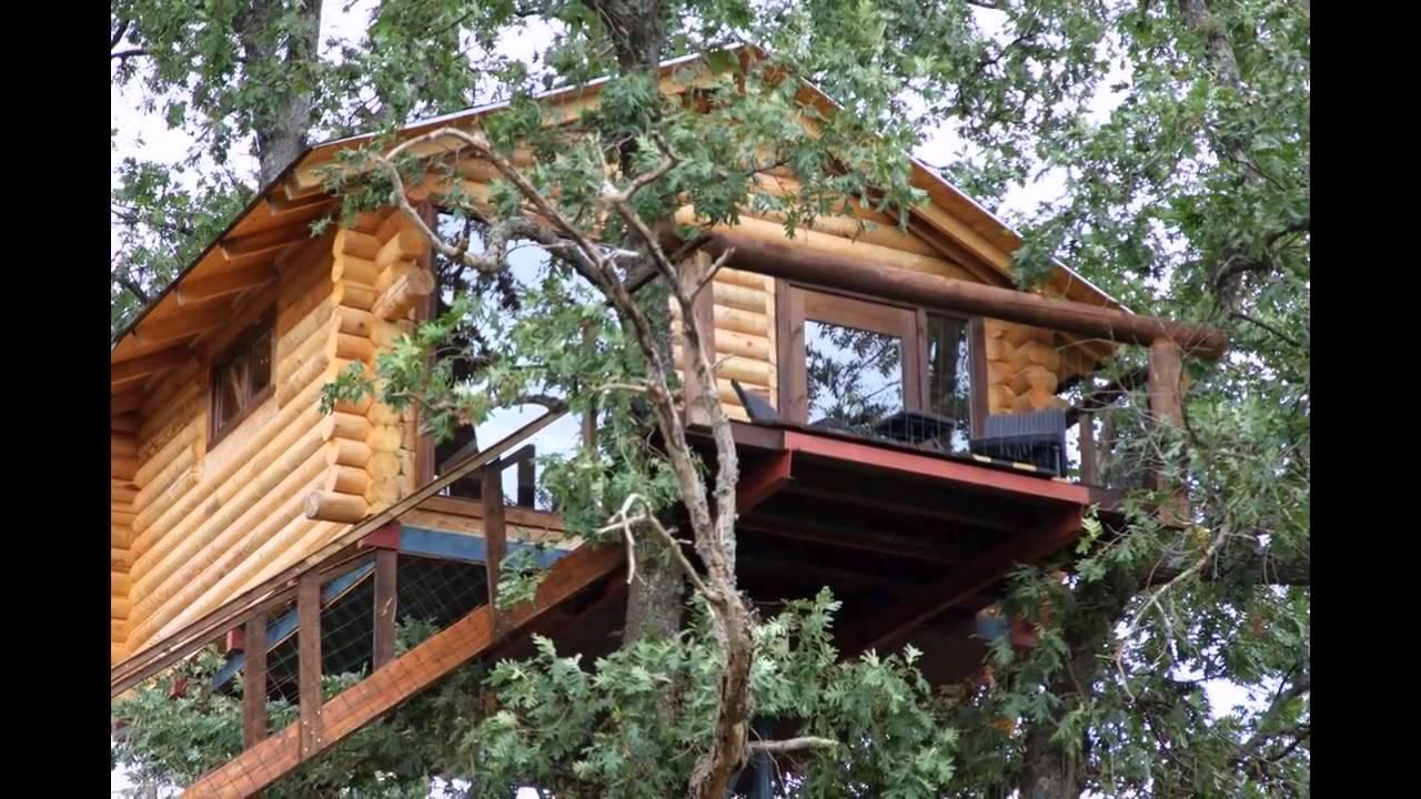 Caba as en los rboles de extremadura villasbuenas de for Alojamientos cabanas en los arboles