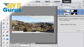 how to make a photomerge panorama in adobe photoshop elements 15 14 13 12 11 tutorial