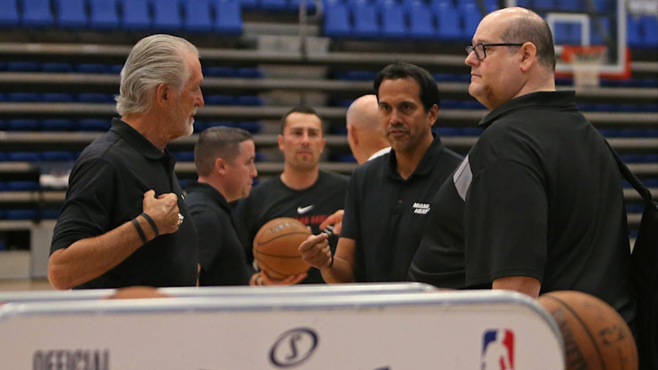 Heat coach Erik Spoelstra: '' A lot of teams are dealing with a bunch of noise''