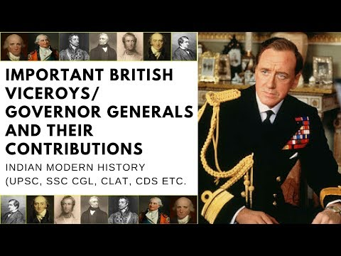Important British Viceroys / Governor Generals and Their Contributions | Indian Modern History