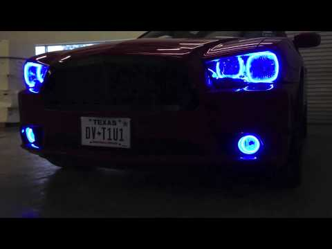 Oracle colorshift halo headlight kit on 2011 14 dodge charger youtube oracle colorshift halo headlight kit on 2011 14 dodge charger publicscrutiny