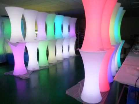 led table and chairs high amazon voice control light up furniture coffee bar chair stool