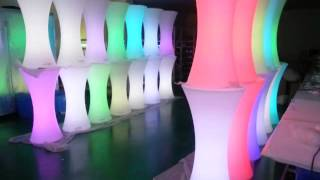 Voice Control Light Up Furniture Led Coffee Bar Table,led Table Led Chair Led Stool