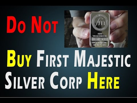 DO NOT BUY FIRST MAJESTIC SILVER CORP HERE - BE SMART ABOUT YOUR ENTRY TIMING