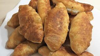 Рецепт. Пирожки жареные с луком и яйцом
