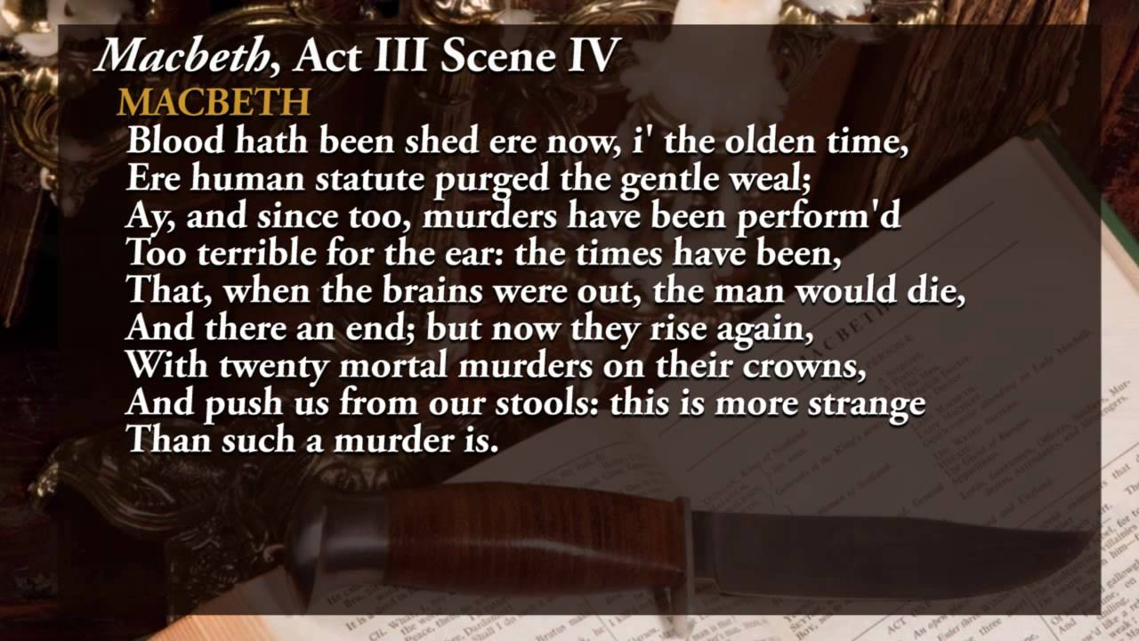 macbeth act scene analysis macbeth act 3 scene 4 analysis