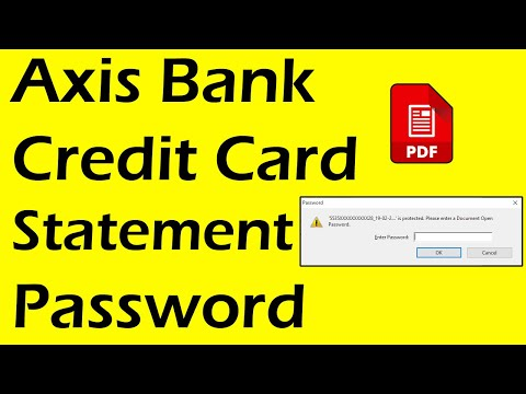 Axis Bank Credit Card Statement Password