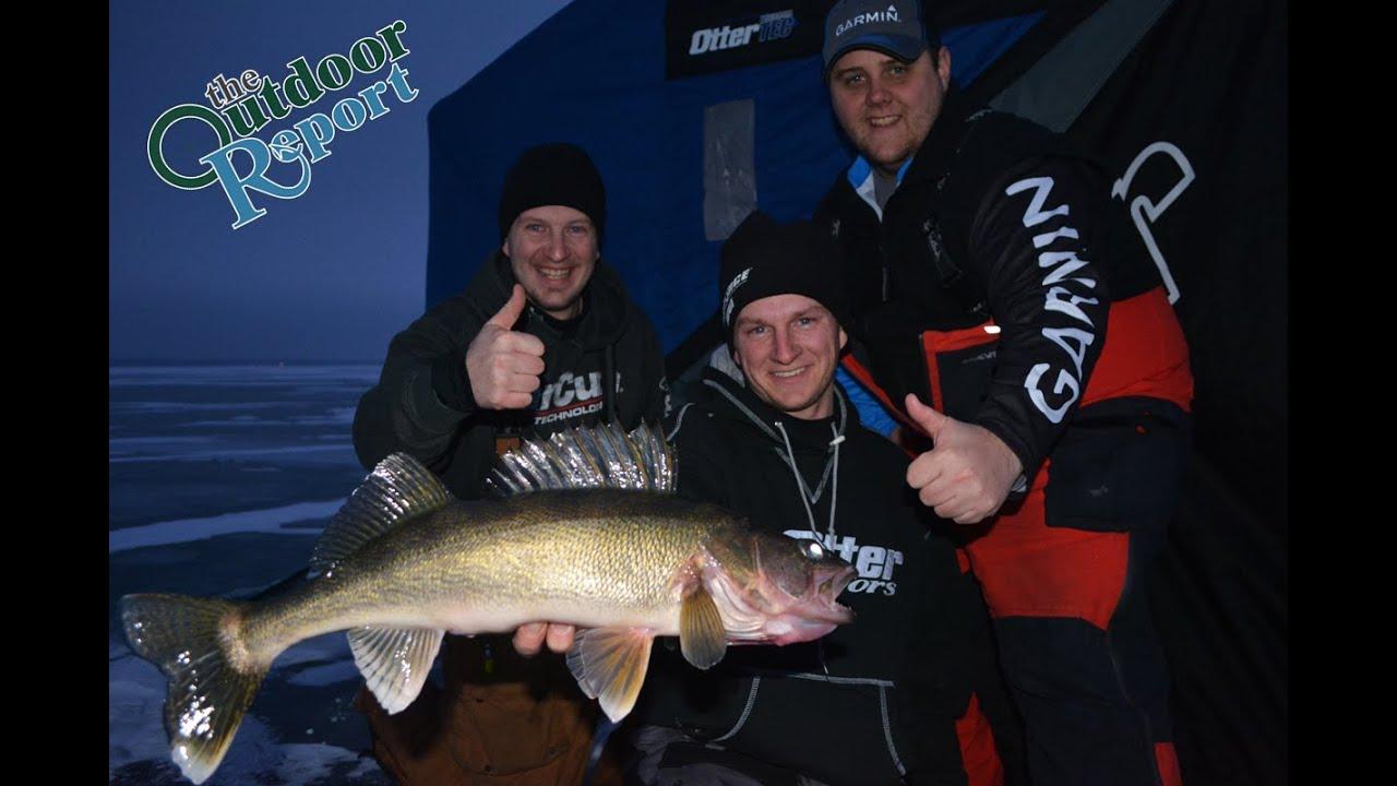 Mille lacs lake fishing report 1 6 16 youtube for Mille lacs lake fishing