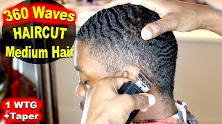 360 Waves Haircut - 1 WTG + Taper Fade on Sides!