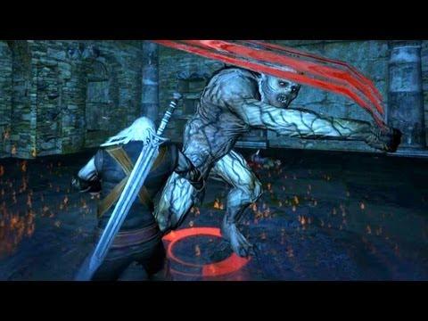 Geralt Kills Vodyan Priest Teyu And Ancient Cemetaur Ureus (Witcher 1 | Contract Quest)