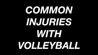 Common Injuries in Volleyball