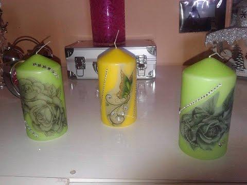 Tutorial per decorare le candele colorate tutorial to for Candele colorate