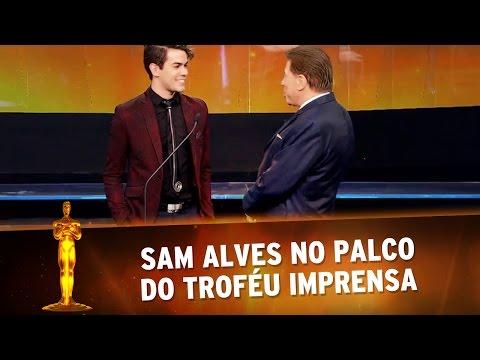 Troféu Imprensa 2016 - Sam Alves no palco do Troféu Imprensa