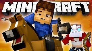 *NEW* COWBOYS VERSUS INDIANS! (Minecraft: Cowboys and Indians with Nooch and Woofless)