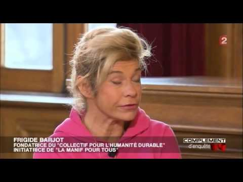 Interview de Frigide Barjot perturbée par le Maire dans Complément d'Enquête (29/11/12, FRANCE 2)