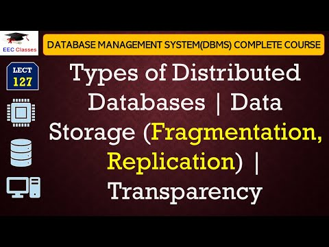 Types of Distributed Database | Data Storage (Fragmentation, Replication) | Transparency