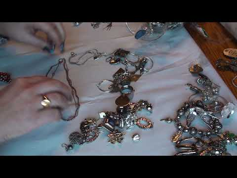 Goodwill Jewelry Jar Part 1- King Baby Studio 925 necklace, silver 925 and beautiful vintage pieces