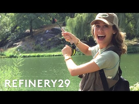 Fly Fishing In Central Park with Lucie