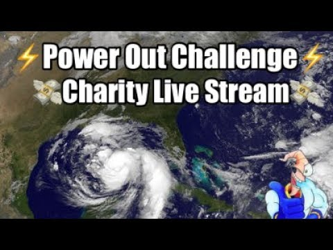 THE POWER OUT CHALLENGE!!! - Charity Hurricane Nate Live Stream (With the Whole Gang)