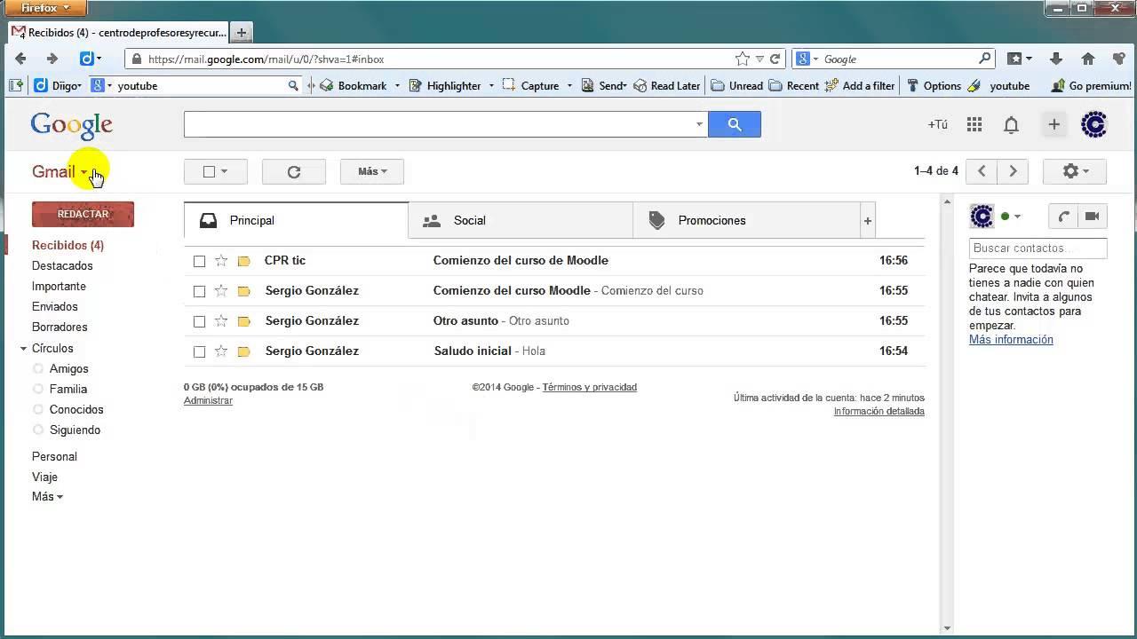 Gmail Bandeja De Entrada Y Mensajes Youtube