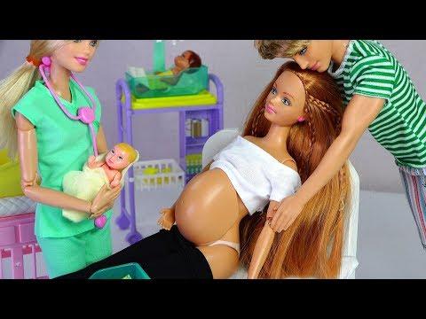 ★바비인형 임신 출산 아기 인형세트 개봉기★Barbie Pregnant Doll Happy Family Midge & Baby Unboxing