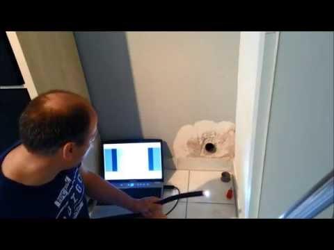 Wasserschaden, Abflusrohr Mit Einer Kamera Selber Untersuchen