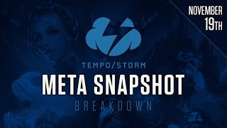 Meta Snapshot Breakdown -  Nov. 19, 2016: Post Blizzcon 2016