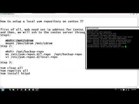 how to setup a local yum repository on centos 7? - YouTube