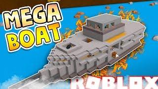 MEGA BOAT! ROBLOX construye un barco para el tesoro