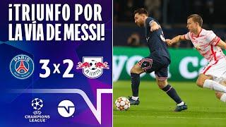 ¡TRES PUNTOS CORTESÍA DE MESSI! I RESUMEN: PSG 32 LEIPZIG I UEFA CHAMPIONS LEAGUE