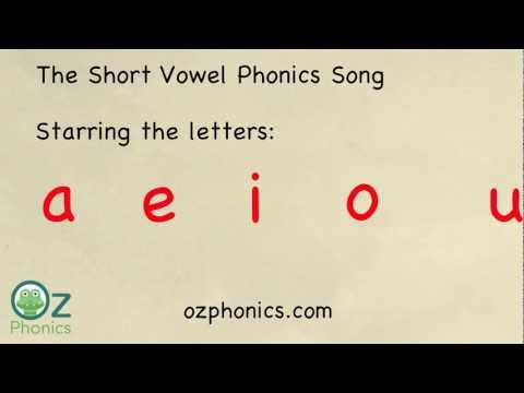 New Zealand Phonics Song  aeiou short vowels