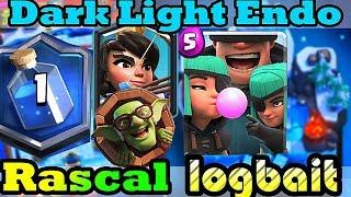 Rascal Logbait gameplays - Best bait deck in Clash Royale