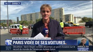 Journée sans voiture: les véhicules sont interdits dans Paris jusqu'à 18h