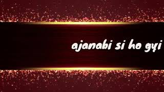 Zara Zara neend bhi Ajnabi Si Ho Gayi | Whatsapp status video song || Royal Nawab Creation