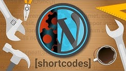 How To Create Your Own WordPress Shortcode - Part 1
