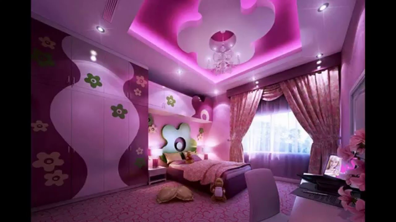 Purple teenage bedroom ideas - YouTube