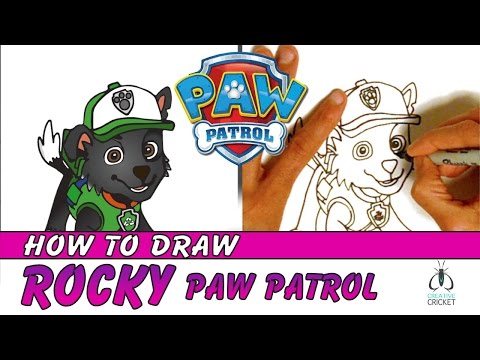 How to Draw Paw Patrol Characters Step by Step - Rocky and Recycling Truck - Easy Art Lesson