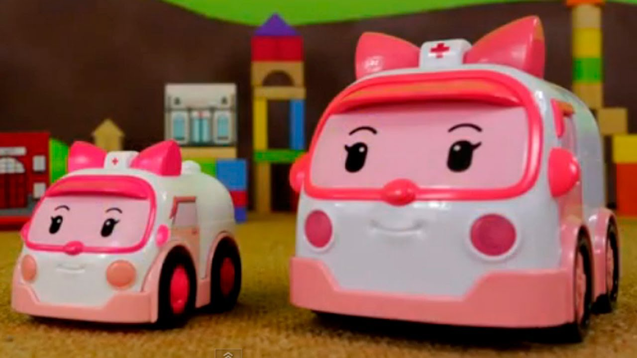 Robocar poli rescue team toy collection learn to count in english live demo youtube - Robocar poli ambre ...