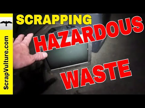 Scrapping glass CRT TV's HAZARDOUS WASTE!! for Money, Copper in TV - the SCURGE of ewaste & scrap!!