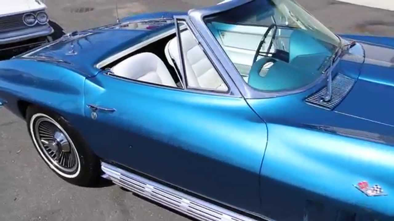 National Corvette Museum >> 1965 Corvette Roadster For Sale~Matching 327~Nassau Blue ...