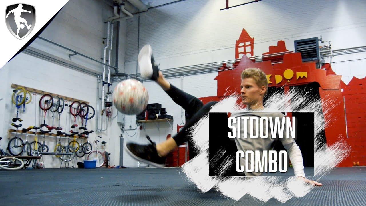 Leer Freestyle Voetbal - Beginnende Sitdown Combinatie