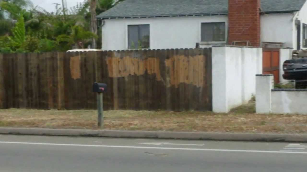 How To Remove Graffiti From Wood Fence Home Tips Youtube